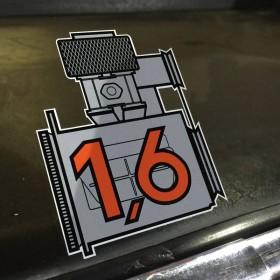 Porsche 1.6 Sticker