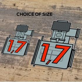 Porsche 1.7 Sticker