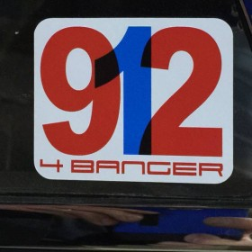 Porsche 912 4 Banger Sticker