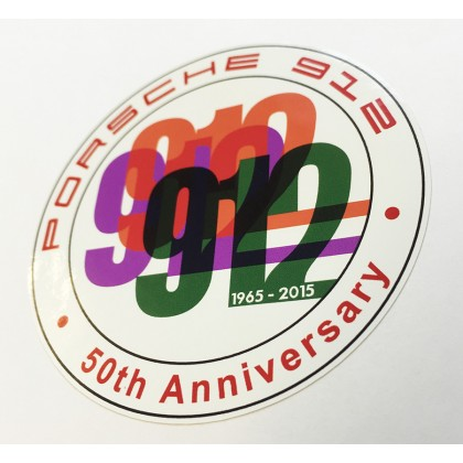 Porsche 912 50 Years Round Sticker