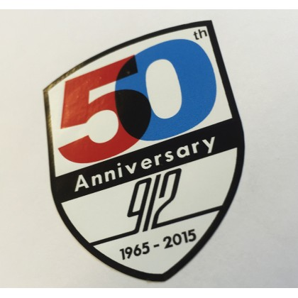Porsche 912 50 Years Shield Sticker