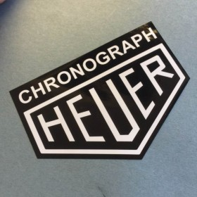 Black Chronograph Heuer Sticker