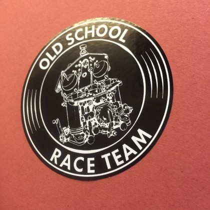 Old School Race Team Sticker