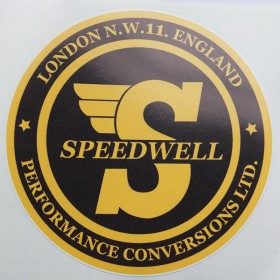 Speedwell Circular Sticker