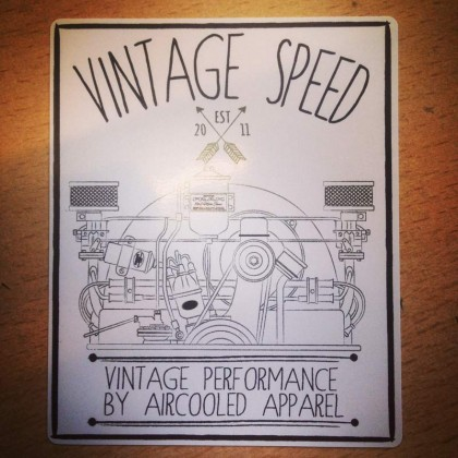 Vintage Speed Sticker