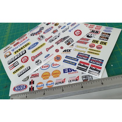 RC Scale Sticker Pack